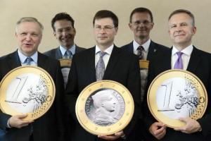 Letland naar de euro