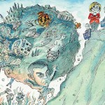 Cartoon of Alexis Tsipras as Sisyphus